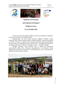 Lifelong Learning Programme Comenius Multilateral School