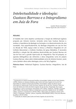 Intelectualidade e ideologia: Gustavo Barroso e o