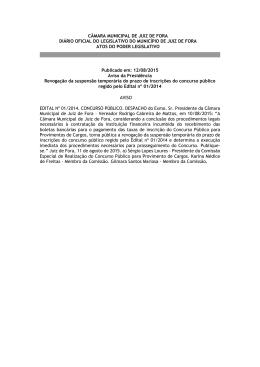 CÂMARA MUNICIPAL DE JUIZ DE FORA DIÁRIO