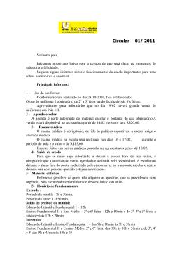 Circular - 01/ 2011