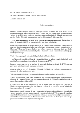 Pará de Minas, 23 de março de 2015 Sr. Marcos Aurélio dos Santos