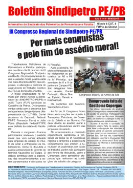 Boletim do SINDIPETRO-PE-PB, Edição 008, Ano 2013