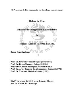 O Programa de Pós-Graduação em Ciências Sociais e - IESP-UERJ