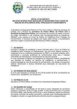 edital nº 001/ssp/2015 - Polícia Militar do Piauí