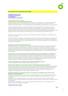 Processo de recrutamento FAQs