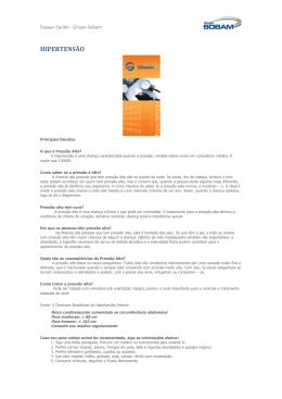 HIPERTENSÃO - Grupo Sobam