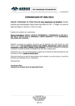 Pagamento referência março de 2015