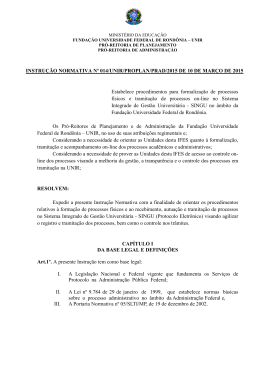 INSTRUÇÃO NORMATIVA Nº 014/UNIR/PROPLAN/PRAD