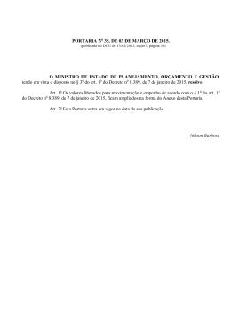 Portaria Ministerial n° 35, de 03 de março de 2015