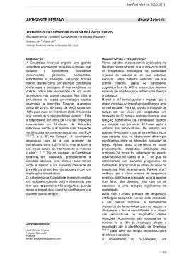 ARTIGOS DE REVISÃO Tratamento da Candidíase Invasiva no