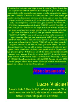 Atenciosamente, Lucas Vinícius!