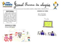 Jornal produzidos pelos 5º anos matutino e vespertino mascote com