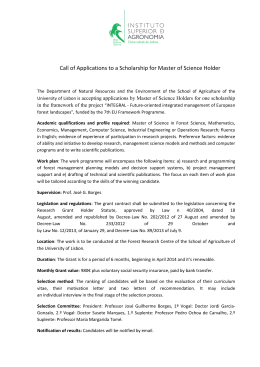 Scholarship for Master of Science Holder
