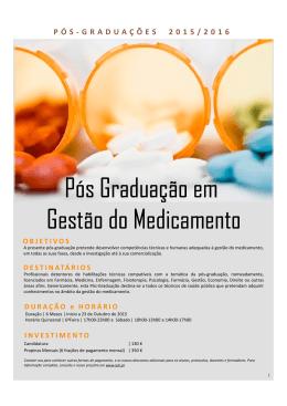 Consulte o Folheto da Pós-Graduação em Gestão do
