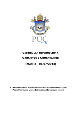 (MANHÃ – 06/07/2014) - PUC-Rio