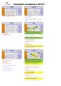 Calendário Acadêmico 2014/1