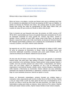 Mensagem do Coordenador Luiz Alberto Teixeira