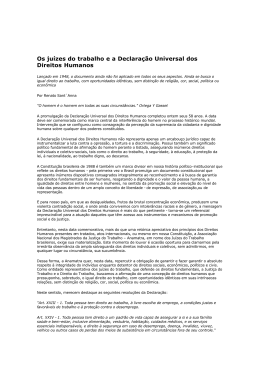 Os juízes do trabalho e a Declaração Universal dos Direitos