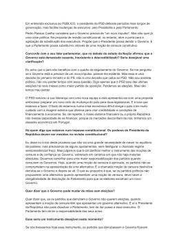 Em entrevista exclusiva ao PÚBLICO, o presidente do PSD defende