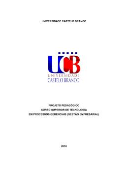 Projeto Pedagogico do Curso de Gestao Empresarial