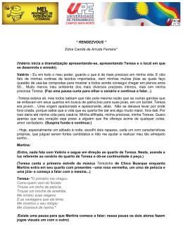 """"""" RENDEZVOUS """" Edna Camila de Arruda Ferreira* (Valério"""