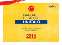 manual do aluno 2016.1 - Centro Universitário Ítalo Brasileiro