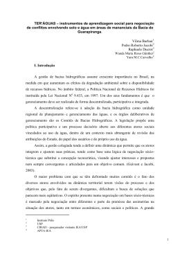 05 de outubro – limite para envio do trabalho