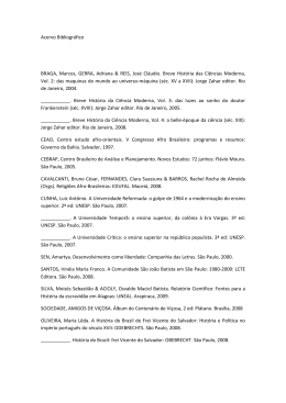 Acervo Bibliográfico BRAGA, Marcos, GERRA, Adriana & REIS