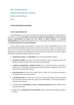 UNIC – Faculdade de Nutrição Disciplina