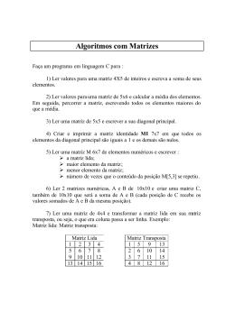 com matrizes (arrays multidimensionais)
