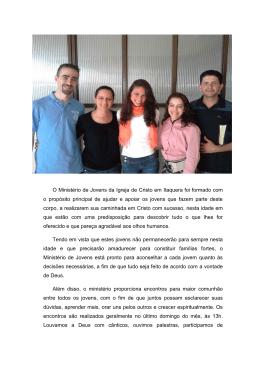 O Ministério de Jovens da Igreja de Cristo em Itaquera foi formado