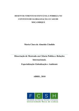Maria Clara de Almeida Cândido Dissertação de Mestrado