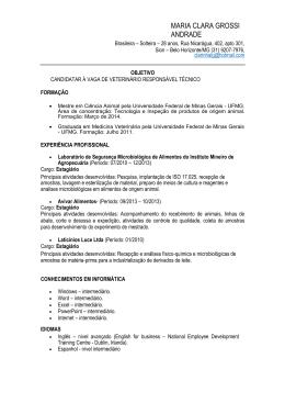 MARIA CLARA GROSSI ANDRADE - CRMV-MG
