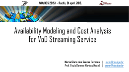 Availability Modeling and Cost Analysis for VoD Streaming Service