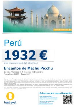 Encantos de Machu Picchu