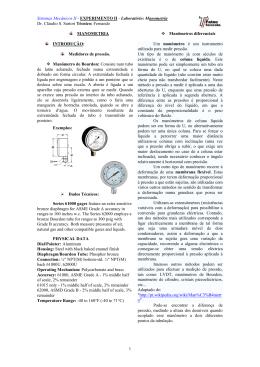 Sistemas Mecânicos II - EXPERIMENTO II