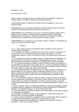 Resolução nº 1.284 De 08 de março de 2005. Institui o sistema de