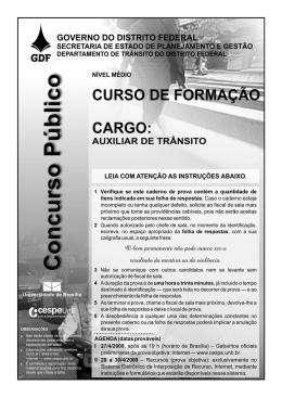Curso de Formação - Cargo Auxiliar de Trânsito