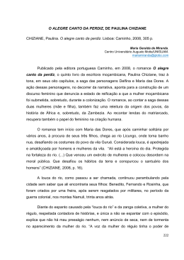 O ALEGRE CANTO DA PERDIZ, DE PAULINA