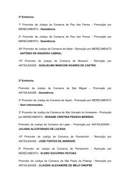 1) Edital nº 023/2010 – Promoção por ANTIGUIDADE