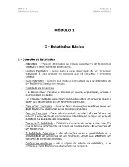 Módulo 1 - Estatística Básica
