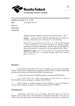 Coordenação-Geral de Tributação Relatório