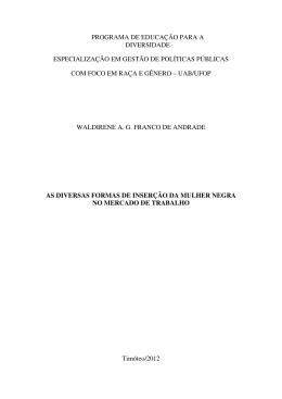 Waldirene Andrade - Água, Mulheres e Desenvolvimento