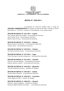 EDITAL N.º 329/2011 - Tribunal de Justiça de Santa Catarina