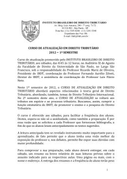 1 - Instituto Brasileiro de Direito Tributário