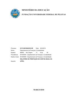Relatório de Gestão Exercício 2009