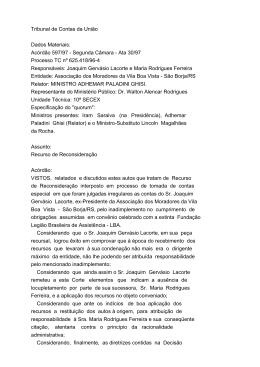Tribunal de Contas da União Dados Materiais: Acórdão 597/97