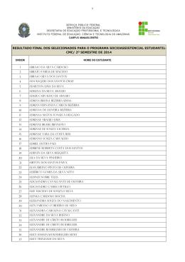 cmc/ 2º semestre de 2014
