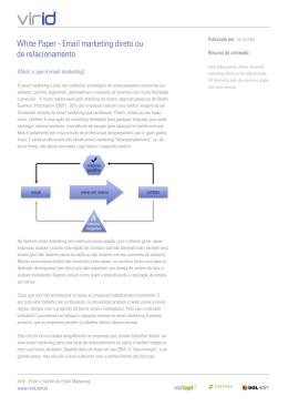 White Paper - Email marketing direto ou de relacionamento