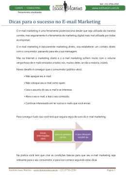 Dicas para o sucesso no E-mail Marketing